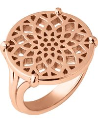 Links of London - Timeless 18ct Rose-gold Vermeil Coin Ring - Lyst