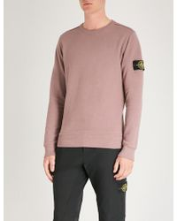 Stone Island - Logo Patch-embroidered Cotton-jersey Jumper - Lyst