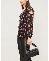 Pinko - Abstract Floral Print Blouse - Lyst