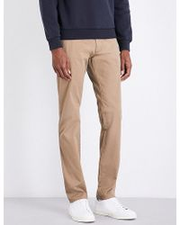 Armani Jeans | Regular-fit Tapered Stretch-cotton Chinos | Lyst