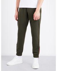 Armani Jeans | Flocked Cotton-jersey Jogging Bottoms | Lyst