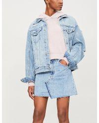 Ksubi - Slogan-print Cropped Cotton-jersey Hoody - Lyst