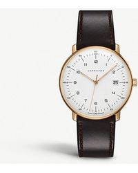 Junghans - 041787200 Max Bill Stainless Steel And Leather Watch - Lyst