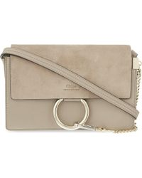 Chloé - Faye Small Leather Shoulder Bag - Lyst