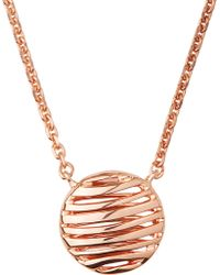 Links of London - Thames 18ct Rose-gold Vermeil Necklace - Lyst