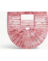 Cult Gaia - Cherry Quartz Pink Vintage Ark Acrylic Clutch Bag - Lyst