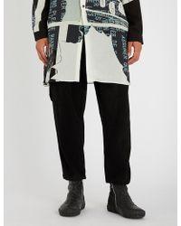 Yohji Yamamoto - Dropped-crotch Wool And Cashmere-blend Jogging Bottoms - Lyst