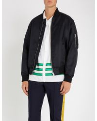 KENZO - Tiger-embroidered Satin Bomber Jacket - Lyst