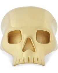 Northskull | Medius Gold-plated Skull Ring | Lyst