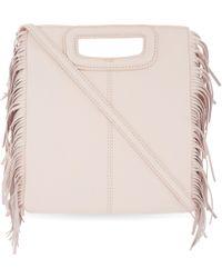 Maje - Fringed Leather Cross-body Bag - Lyst