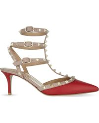 Valentino - Rockstud 65 Leather Courts - Lyst