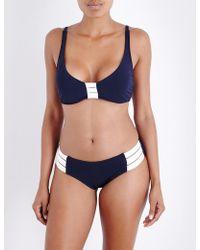 Seafolly - Block Party Halterneck Bikini Top - Lyst