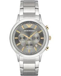 Emporio Armani - Ar11047 Renato Stainless Steel Watch - Lyst