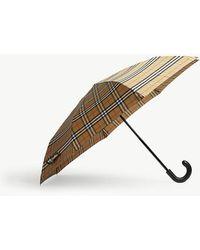 Burberry - Trafalgar Check Umbrella - Lyst