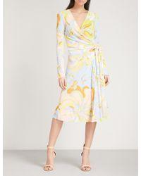 Emilio Pucci - Paisley-print Crepe Wrap Dress - Lyst