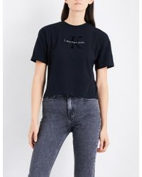 CALVIN KLEIN 205W39NYC - Teco-11 True Icon Cotton-jersey T-shirt - Lyst