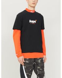 9315fe84c Aape - Logo And Graphic-print Cotton T-shirt - Lyst