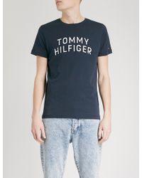 Tommy Hilfiger | Logo-print Cotton-jersey T-shirt | Lyst