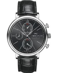 Iwc - Portofino Chronograph Alligator-leather Watch - Lyst