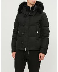 DSquared² - Shearling-trimmed Shell-down Jacket - Lyst