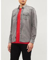 Replay - Western-fit Faded Denim Shirt - Lyst