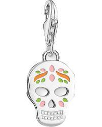 Thomas Sabo - Charm Club Sterling Silver Mexican Sugar Skull Charm - Lyst