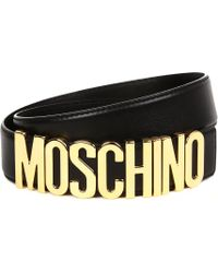 Moschino - Logo Belt - Lyst
