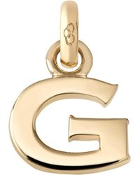 Links of London - Alphabet G 18ct Yellow Gold Charm - Lyst