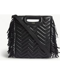 b003dfaad8af Lyst - Stella McCartney Fringed-Tassel Shoulder Bag in Black