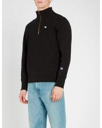 Champion - Half-zip Cotton-jersey Sweatshirt - Lyst