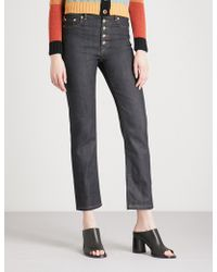 JOSEPH - Slim-fit Straight Cropped High-rise Jeans - Lyst