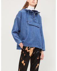 Closed - Hooded Denim Jacket - Lyst