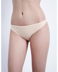Hanro - Ultralight Cotton Thong - Lyst