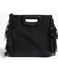 Maje - Mini Fringed Quilted Leather Cross-body Bag - Lyst