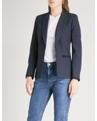 Claudie Pierlot - Diamond-pattern Woven Jacket - Lyst