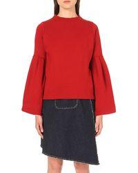 Miharayasuhiro - Bell-sleeve Cotton-jersey Sweatshirt - Lyst