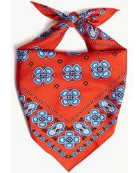 Sandro - Geometric Print Silk Scarf - Lyst