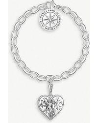 Thomas Sabo - Angel Heart Sterling Silver Charm Bracelet - Lyst