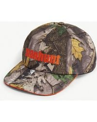 fae7bb21f44 A Bathing Ape - Forest Camouflage-print Cotton Baseball Cap - Lyst