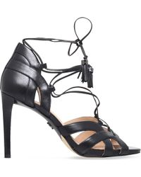 MICHAEL Michael Kors - Mirabel Leather Heeled Sandals - Lyst