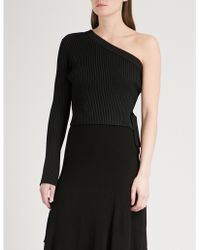 Mo&co. - Asymmetric Knitted Top - Lyst