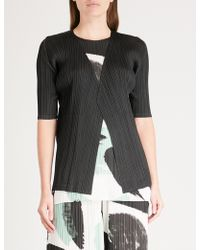 Pleats Please Issey Miyake - Monthly Pleated Cardigan - Lyst