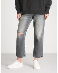 DIESEL - Aryel Knee Rip Regular-fit Mid-rise Jeans - Lyst