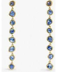 Monica Vinader - Mini Nugget Cocktail 18ct Gold-vermeil Earrings - Lyst