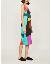Pleats Please Issey Miyake - Clumpy Colour Pleated Dress - Lyst