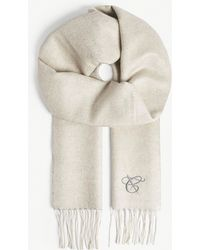 Canali - Two-tone Silk & Cashmere Scarf - Lyst