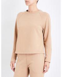 Sunspel | Round-neck Cotton-jersey Sweatshirt | Lyst