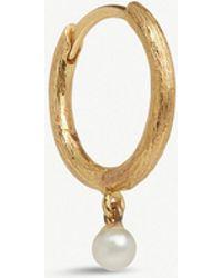 Annoushka - 18ct Yellow Gold Hoopla Pearl Hoop Earring - Lyst