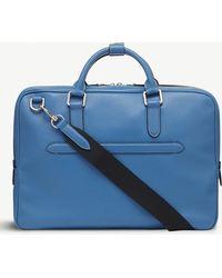 Smythson - Burlington Slim Leather Briefcase - Lyst