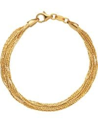 Links of London - Essentials 18ct Yellow Gold-plated Silk 10 Row Bracelet - Lyst